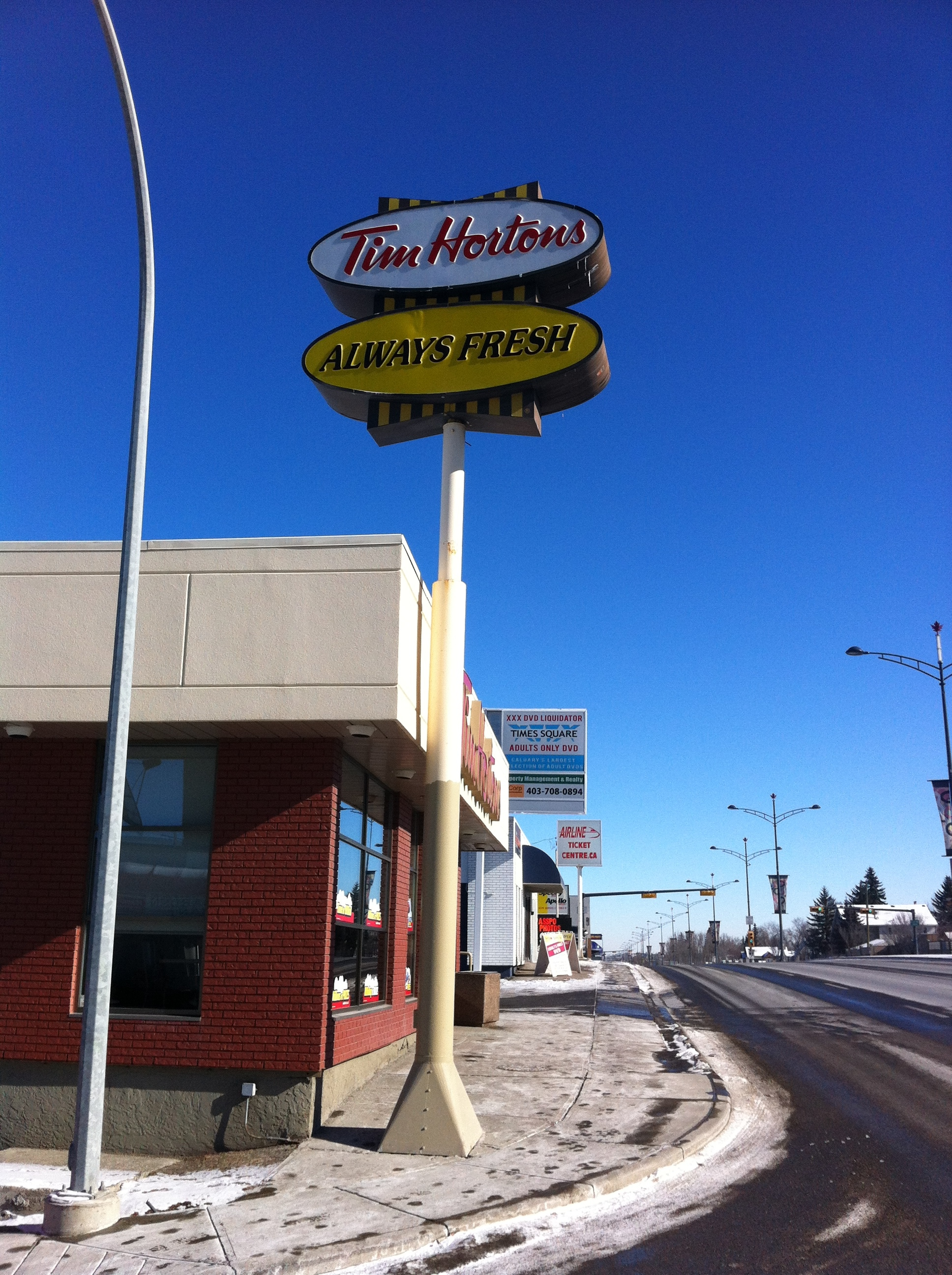 It wouldn't be the TransCanada Highway without at least one Tim Hortons!