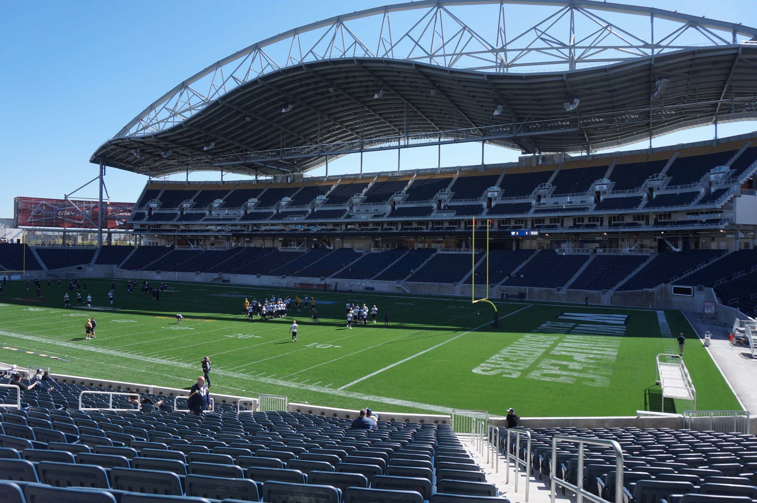 Winnipeg's new Investors Group Field cost $204 million to build. It will only be used to its maximum for 8 or 9 games a year.