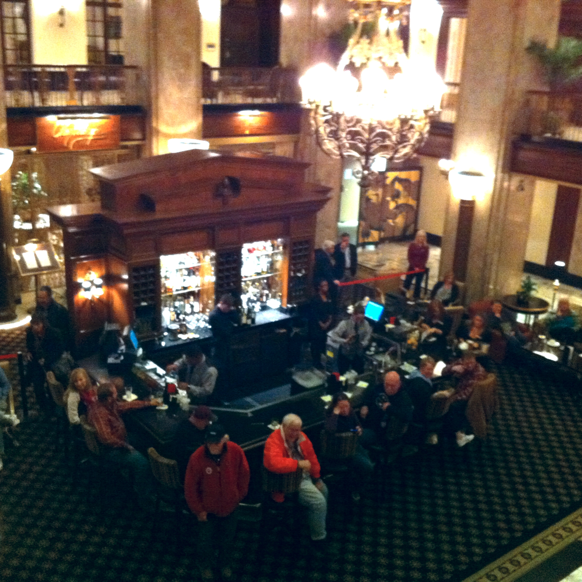 The Peabody's lobby bar is a great place to sit and watch the world go by.