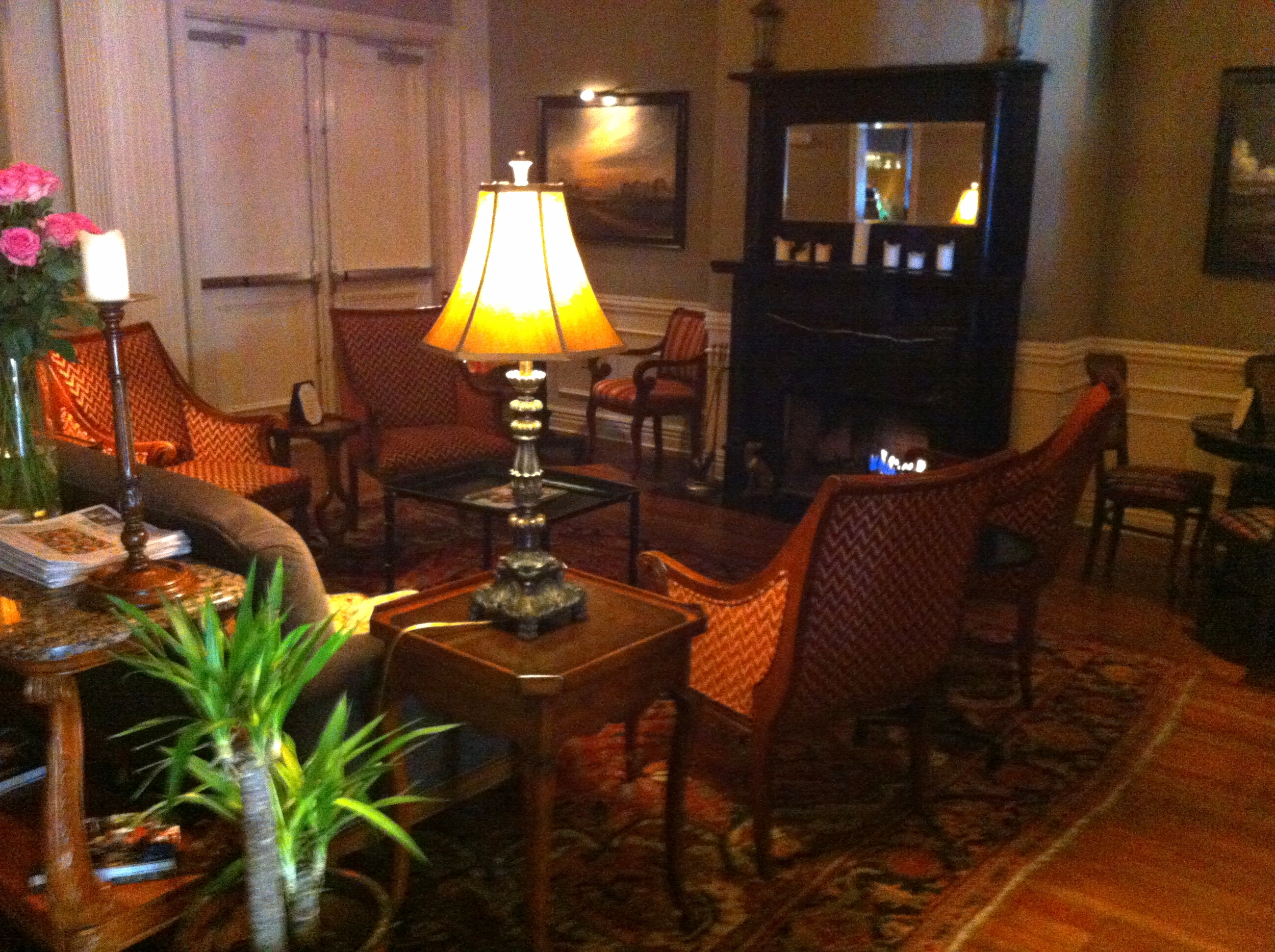 The cozy lobby fireplace is a great spot to relax, read a newspaper or magazine. It is just like home.