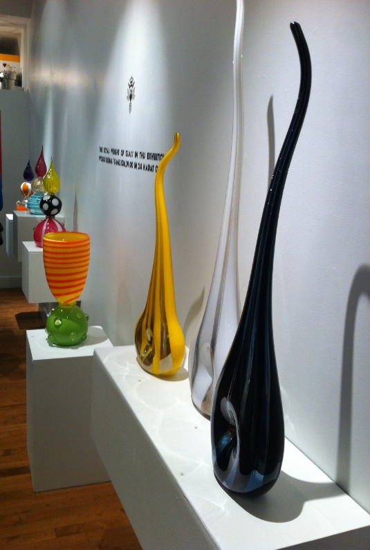 Glass work by the Bee Kingdom collective at Ruberto Ostberg Gallery.