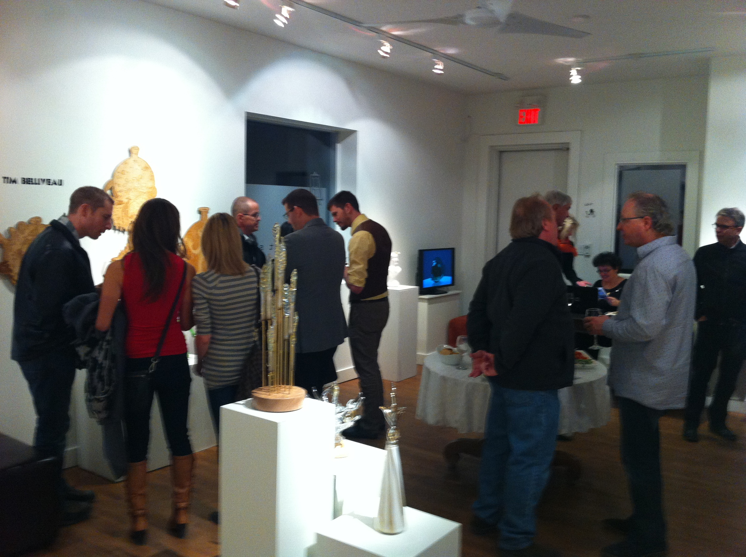 Bee Kingdom's opening night at Ruberto Ostberg Gallery in early March.