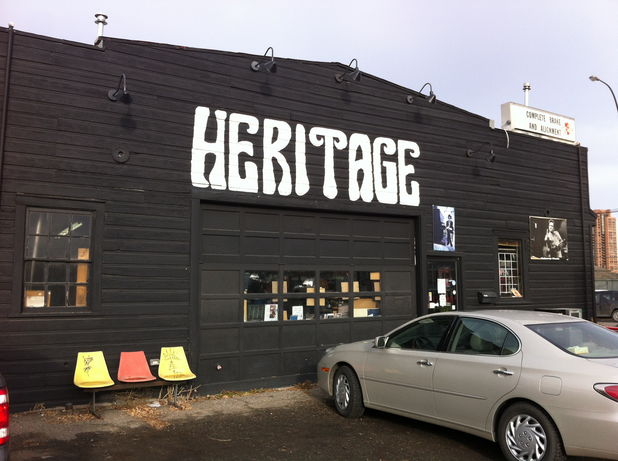 Heritage Posters & Music's home is in fact in a heritage i.e. old wood warehouse building.