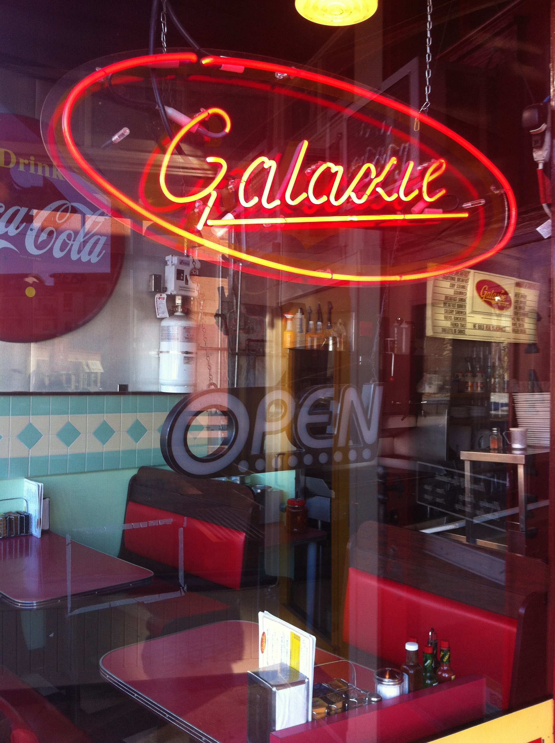 Galaxie Diner continues the vintage charm of the block.