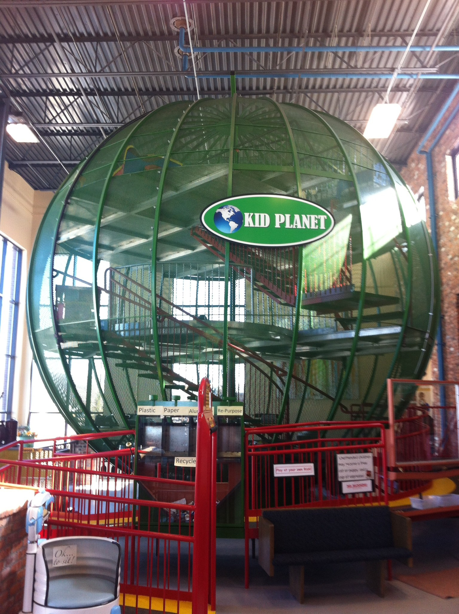 The Kid's Planet at the entrance to the museum allows children to run off their excess energy.