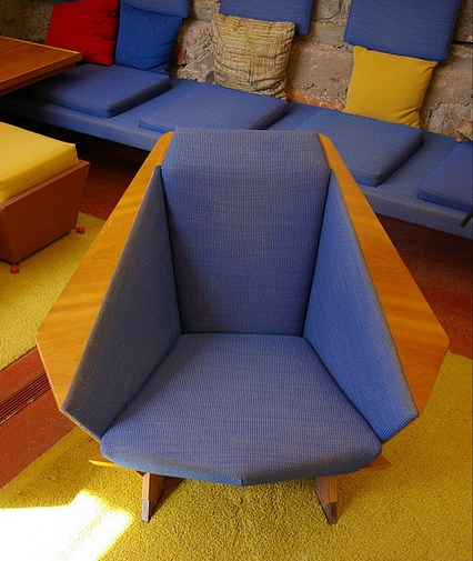 One of Wright's signature chairs.