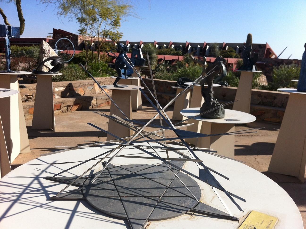 Heloise Crista's sculpture garden.