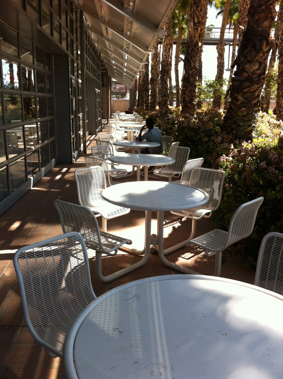 Just one of many resort-like seating areas.