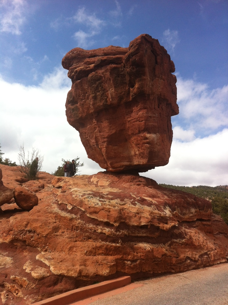 "The ""Balancing Rock"" is the signature rock formation in the Garden of the Gods. It is a fun place to walk around and under (if you dare). It is amazing how accessible the formations are to the public and just a 15-minute drive from downtown. You could have spent all day there walking the trails, having a picnic and watching the movie at the Visitor Center."