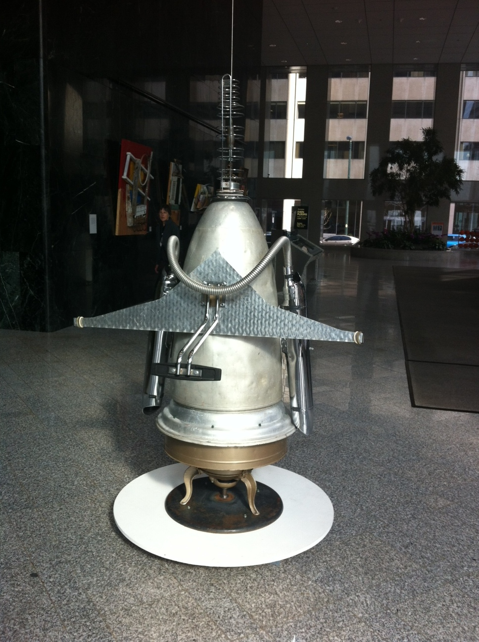 Jimmy Descant is famous for his robots and spacemen made from household appliance parts.