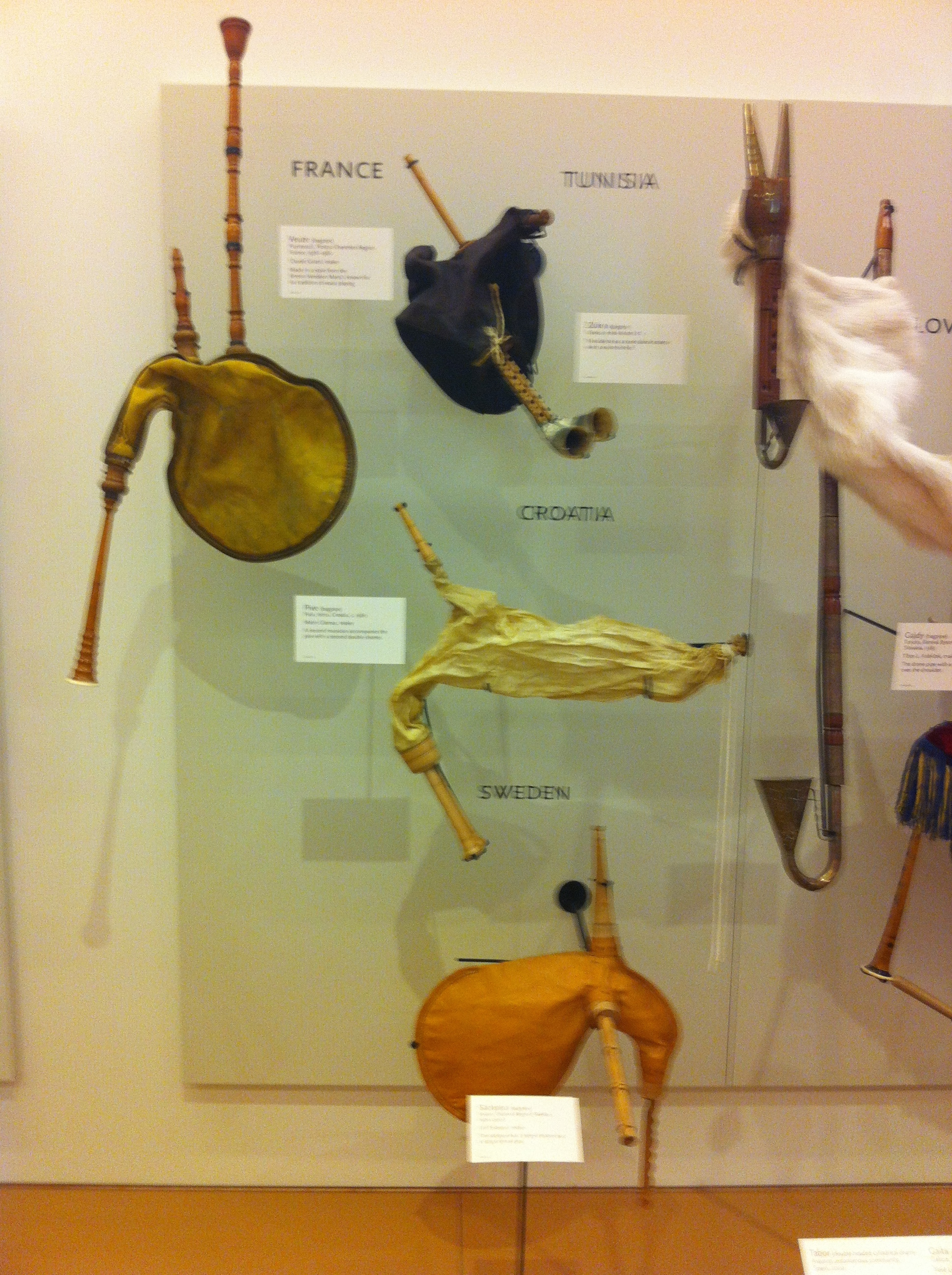 The evolution of the bag pipes.