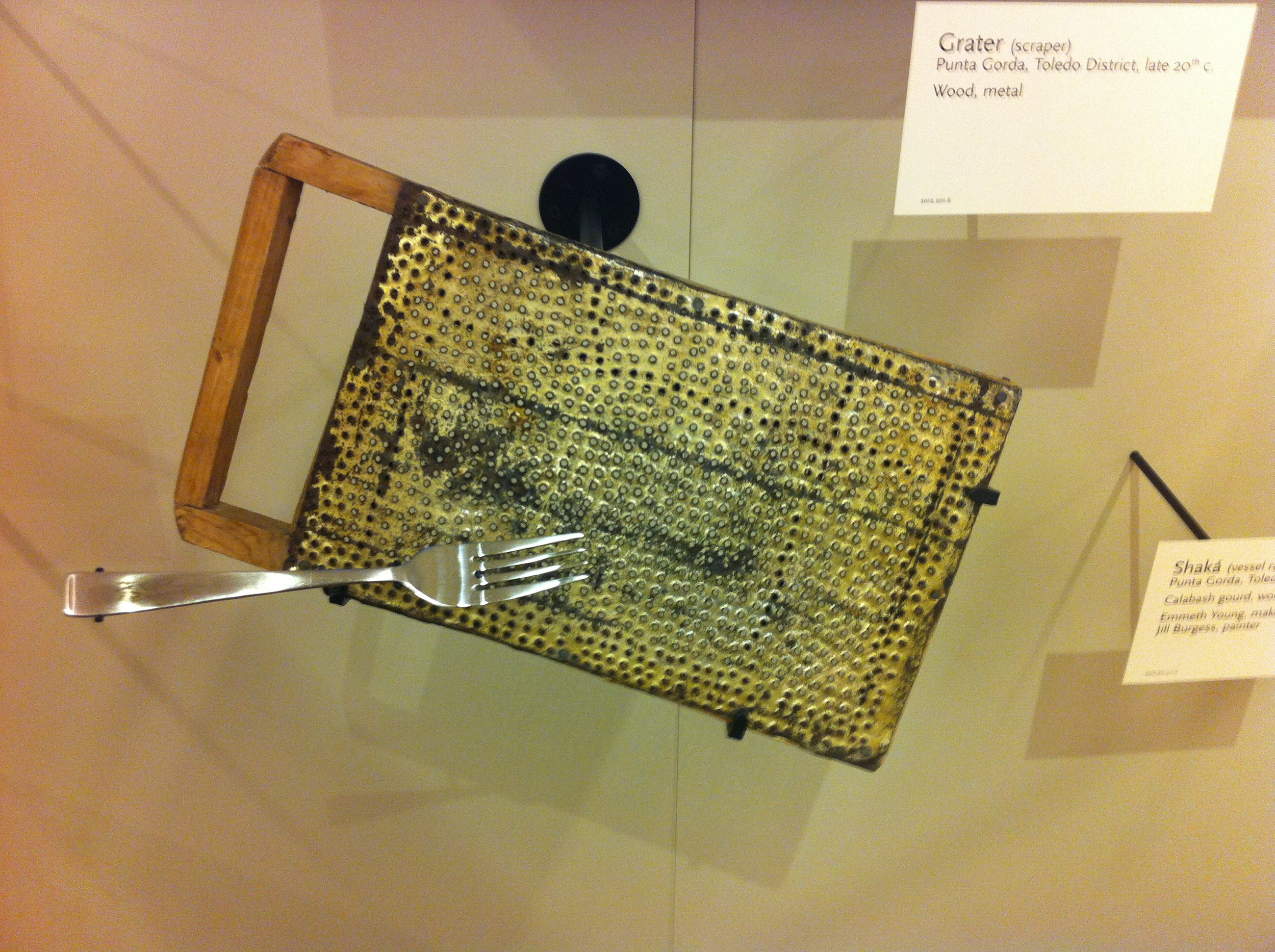 Some of the instruments are very simple like this Grater.