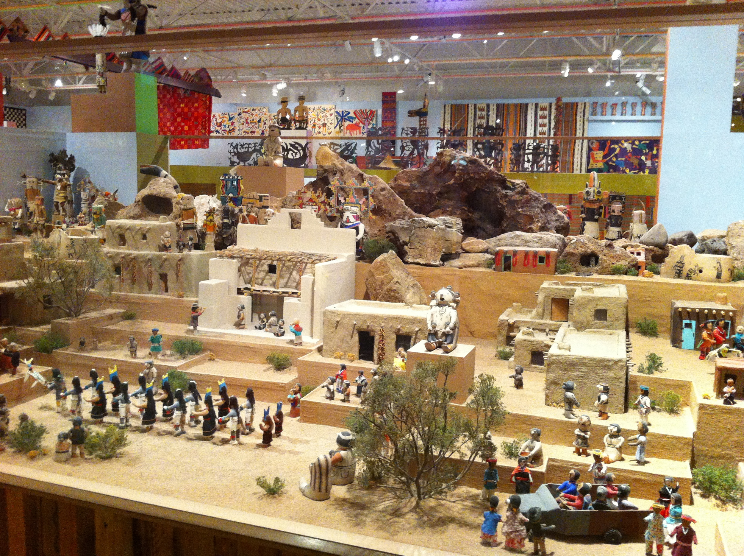 Just one of numerous miniature villages in the Girard Wing.