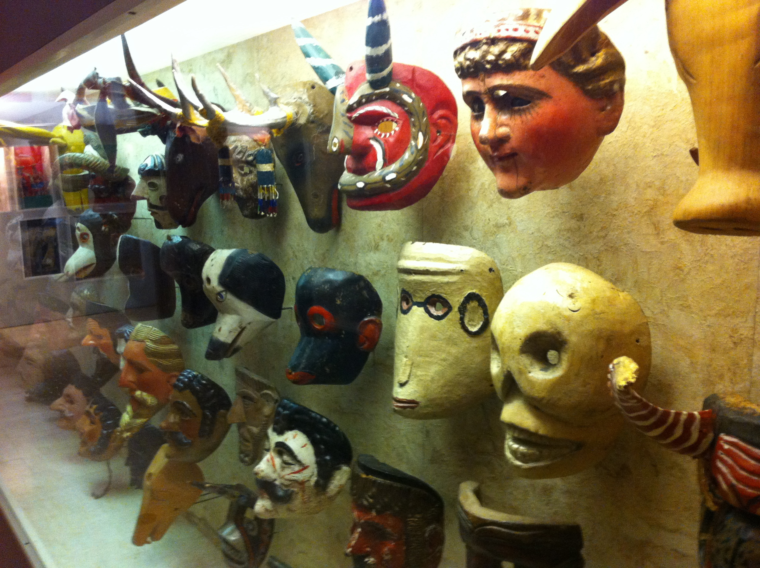 Just one of many displays of masks.
