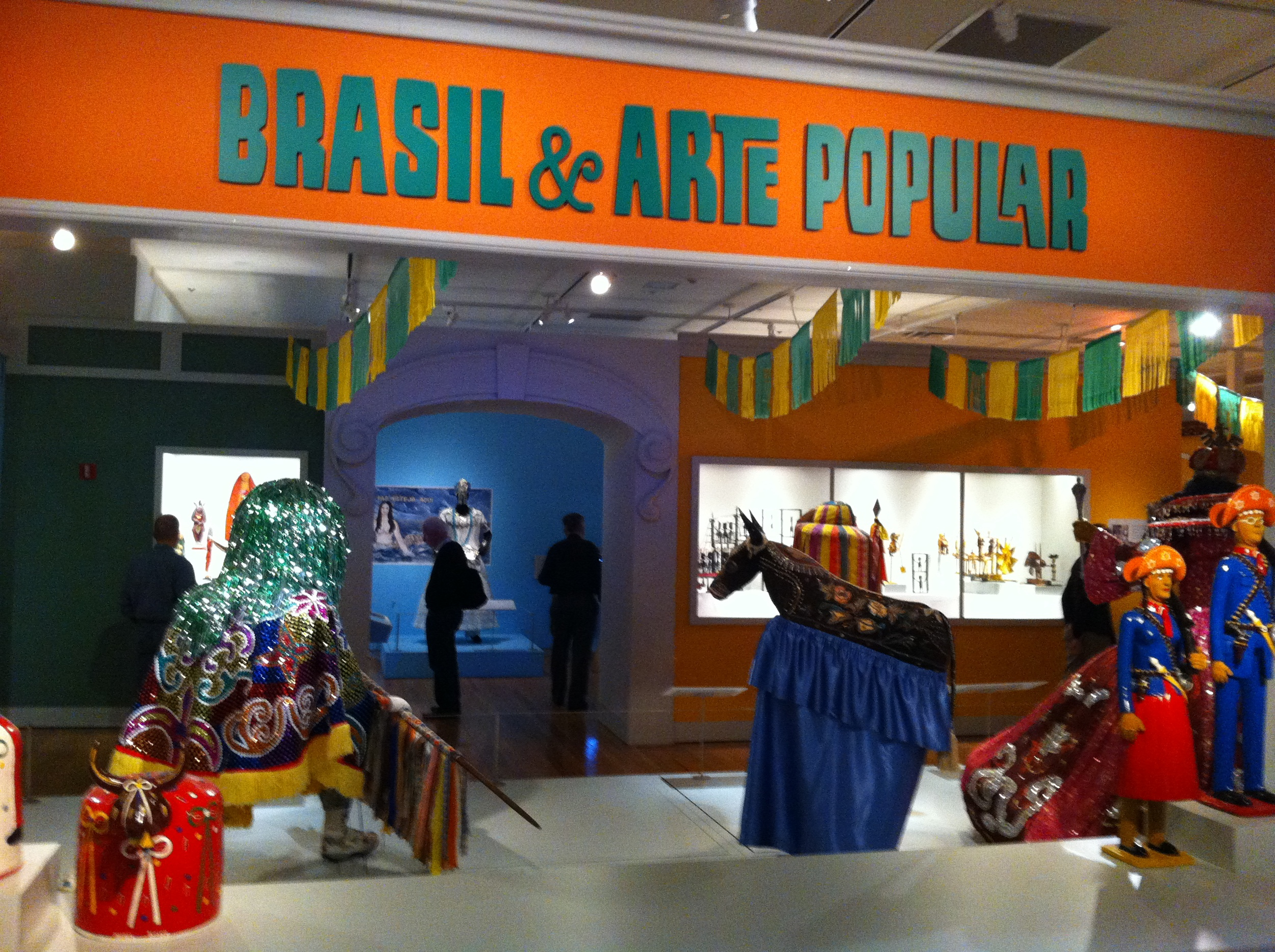 Life size folk art from Brasil.