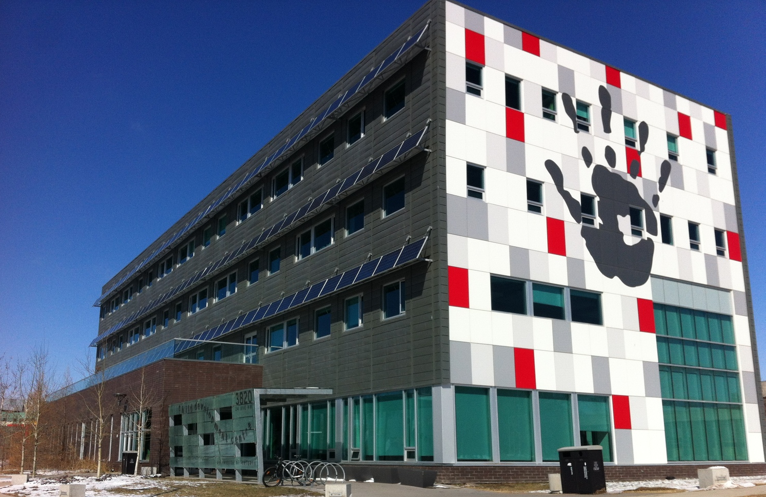 The Children's Development Centre located across the street from the Alberta Children's Hospital is home to several agencies that help children in need.  It was one of Calgary's first LEED buildings.