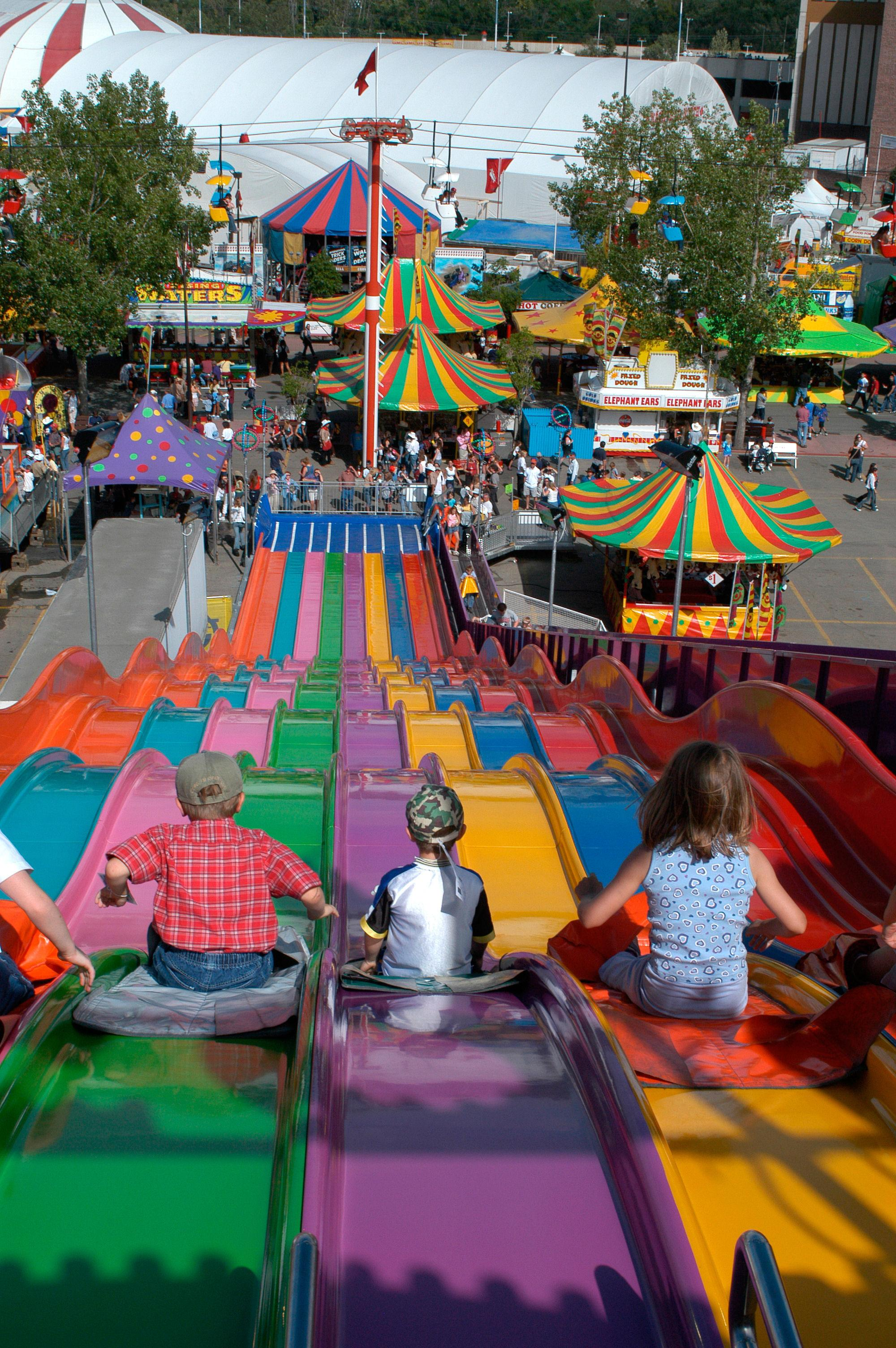 The new FUNtier slide (photo credit: Calgary Stampede)