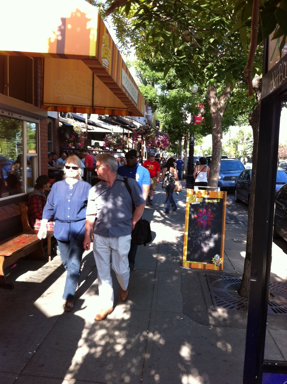Calgary's 17th Avenue is a popular retail and restaurant row just seven blocks from the central business district.
