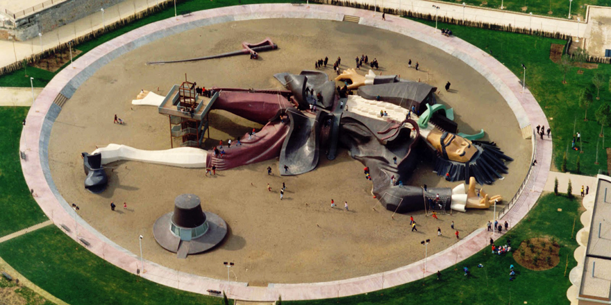 Parque Gulliver aerial view