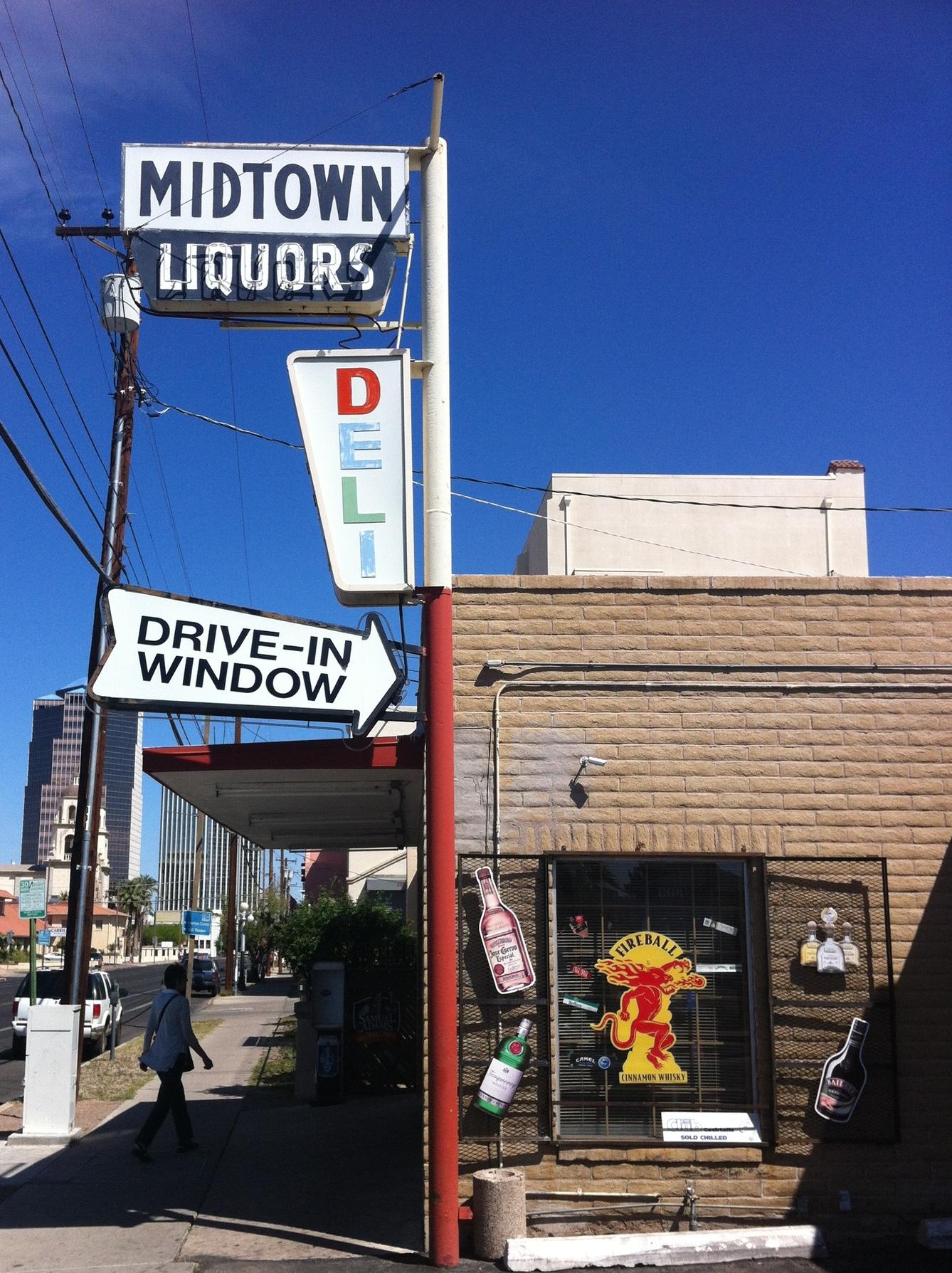 Gotta love a drive in liquor store deli.