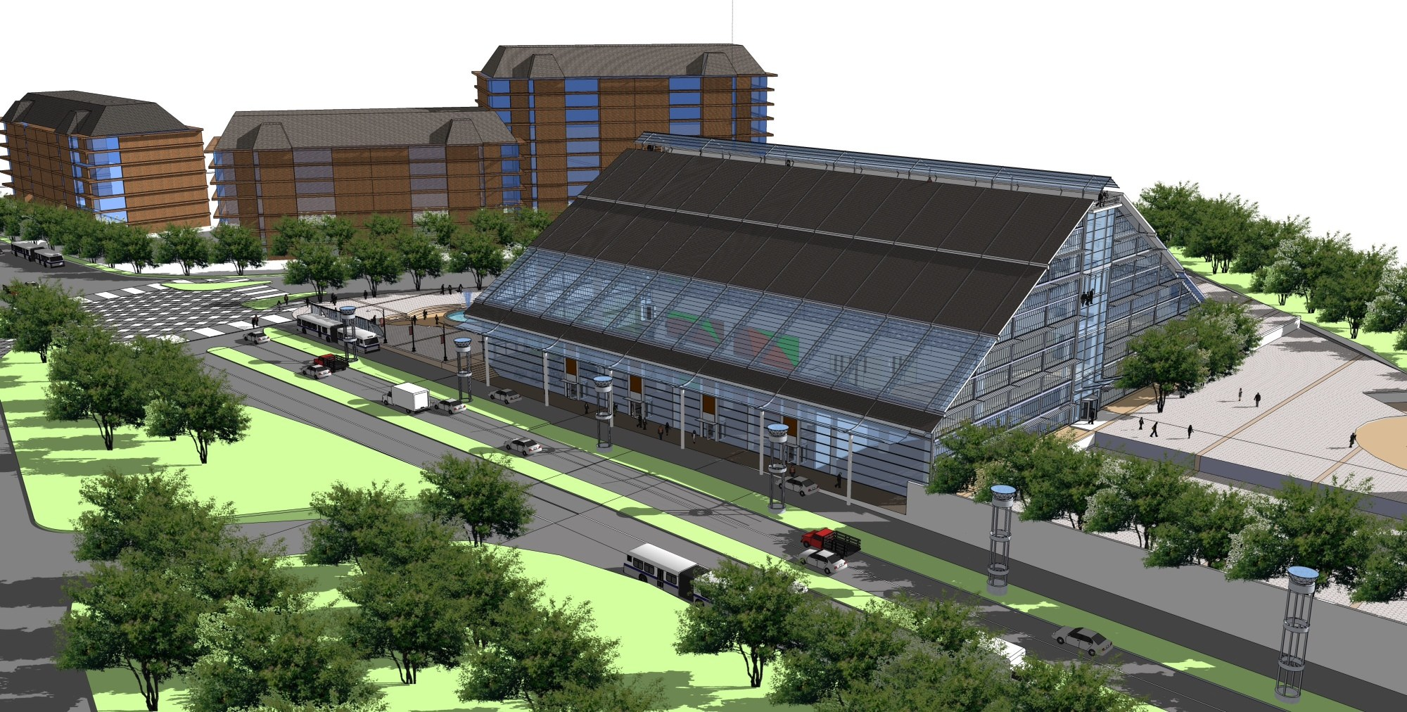 Artists rendering of International Avenue's proposed performing arts cultural centre.