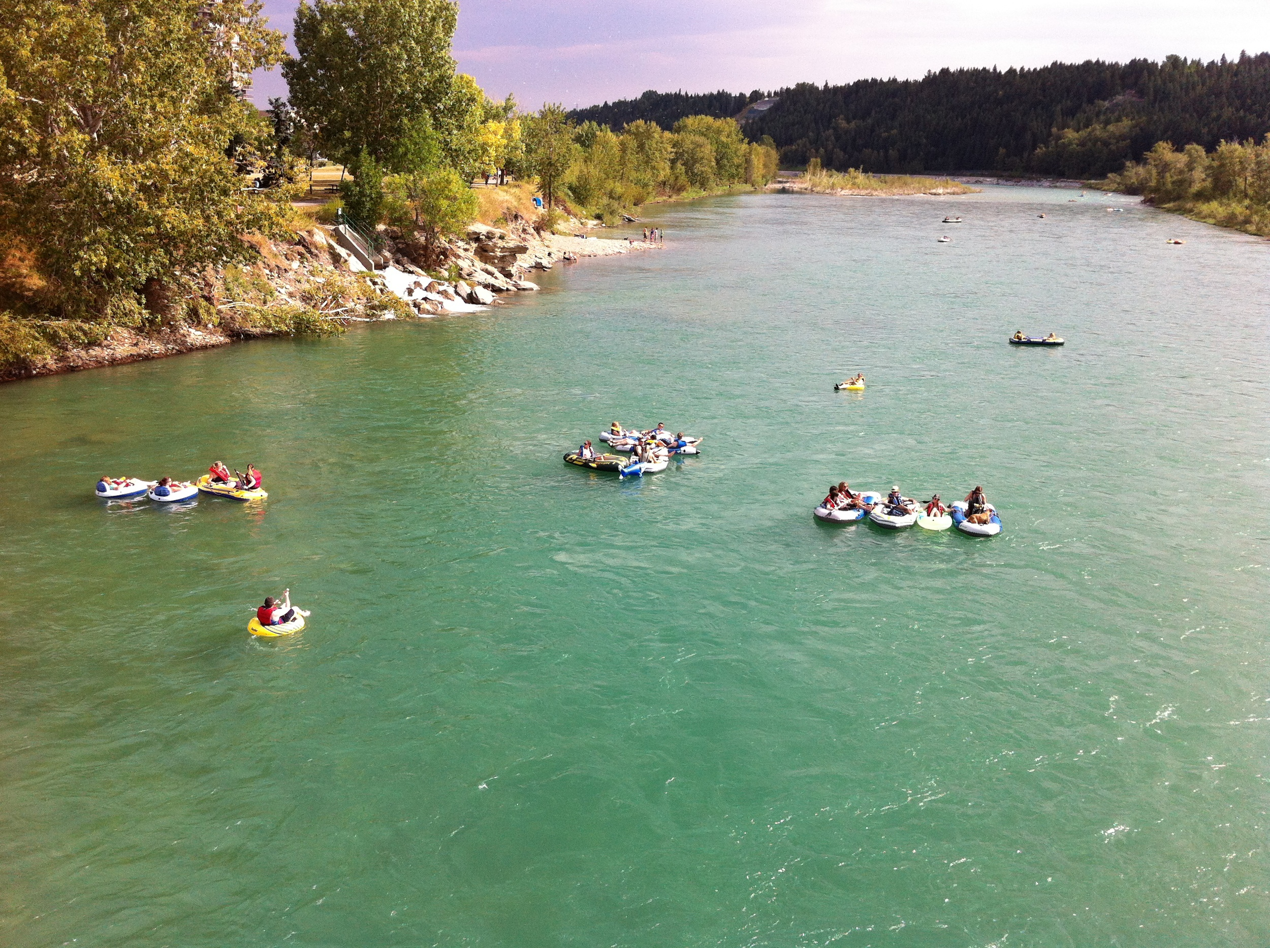 Floating down one of Calgary's two rivers is a great way to spend a summer day with visiting family and friends. You could even try your hand a fly fishing as the Bow River is one of the best fly fishing rivers in the world.