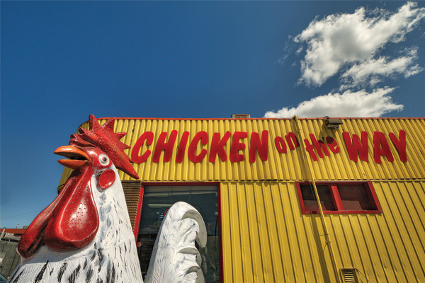 When in Calgary, eat like locals do?  Chicken on the Way and Peter's Drive-In are two of Calgary's iconic eateries. Click here for:    Top Ten Places to eat like a local?
