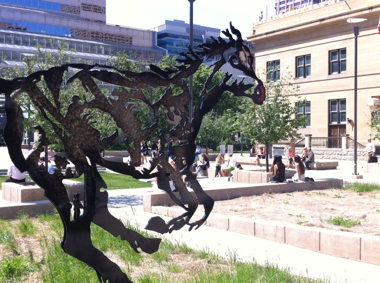 "Harley Hotchkiss Gardens is downtown's newest public space created as part of the new Calgary Courthouse complex. It is about as ""centre ice, mid-field or center court"" as you can get."
