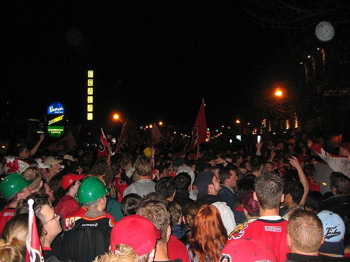 The RED mile during the Stanley Cup playoffs.