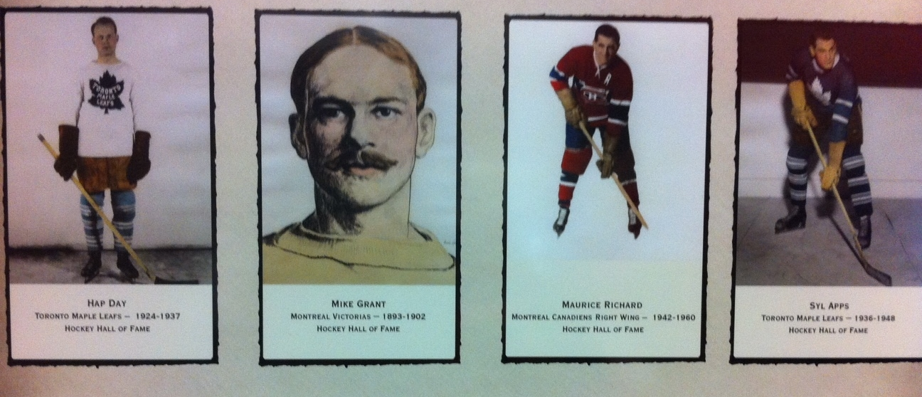 The photos in the lobby of the Stampede Corral is literally a who's who of hockey in Canada.