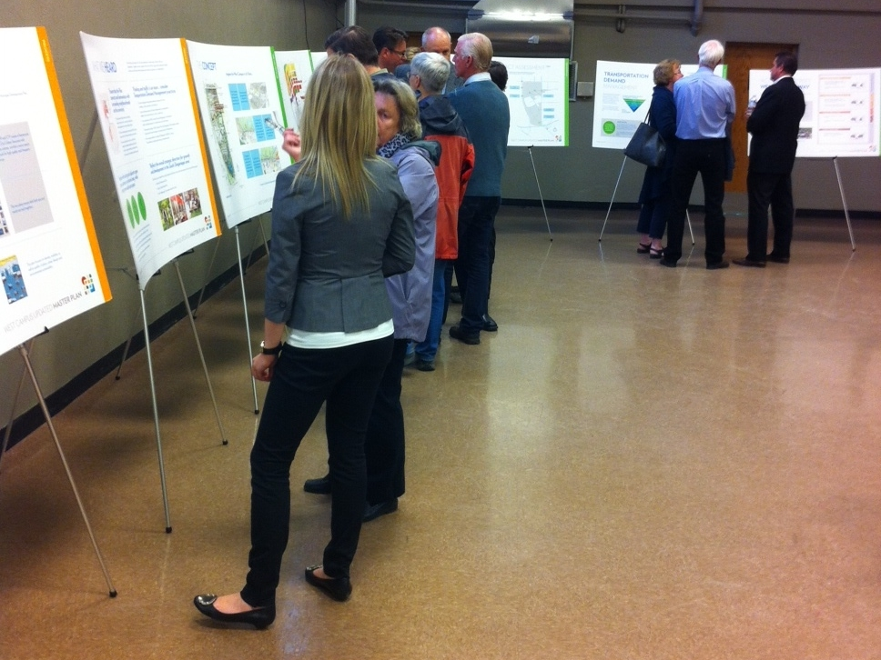 There has been significant community engagement from the very beginning of the West Campus project with numerous open houses to present ideas and gather feedback.