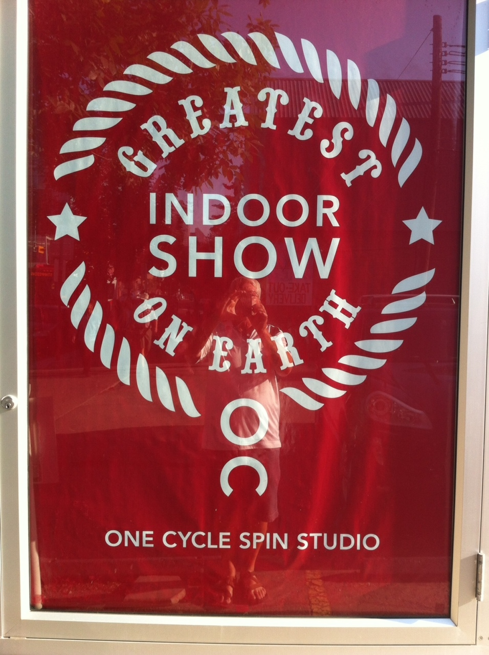 Fun play on the Calgary Stampede's brand.  I have done a couple of spin classes here and it is a bit like riding a bronc or maybe a bull - sore butt!