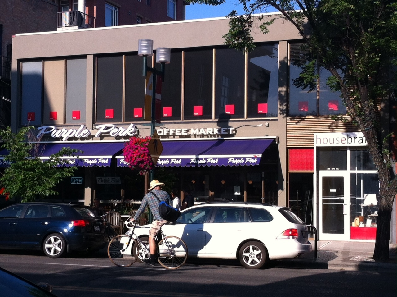 4th Street is quickly becoming Calgary's cafe headquarters with independents like Purple Perk and Phil & Sebastian.