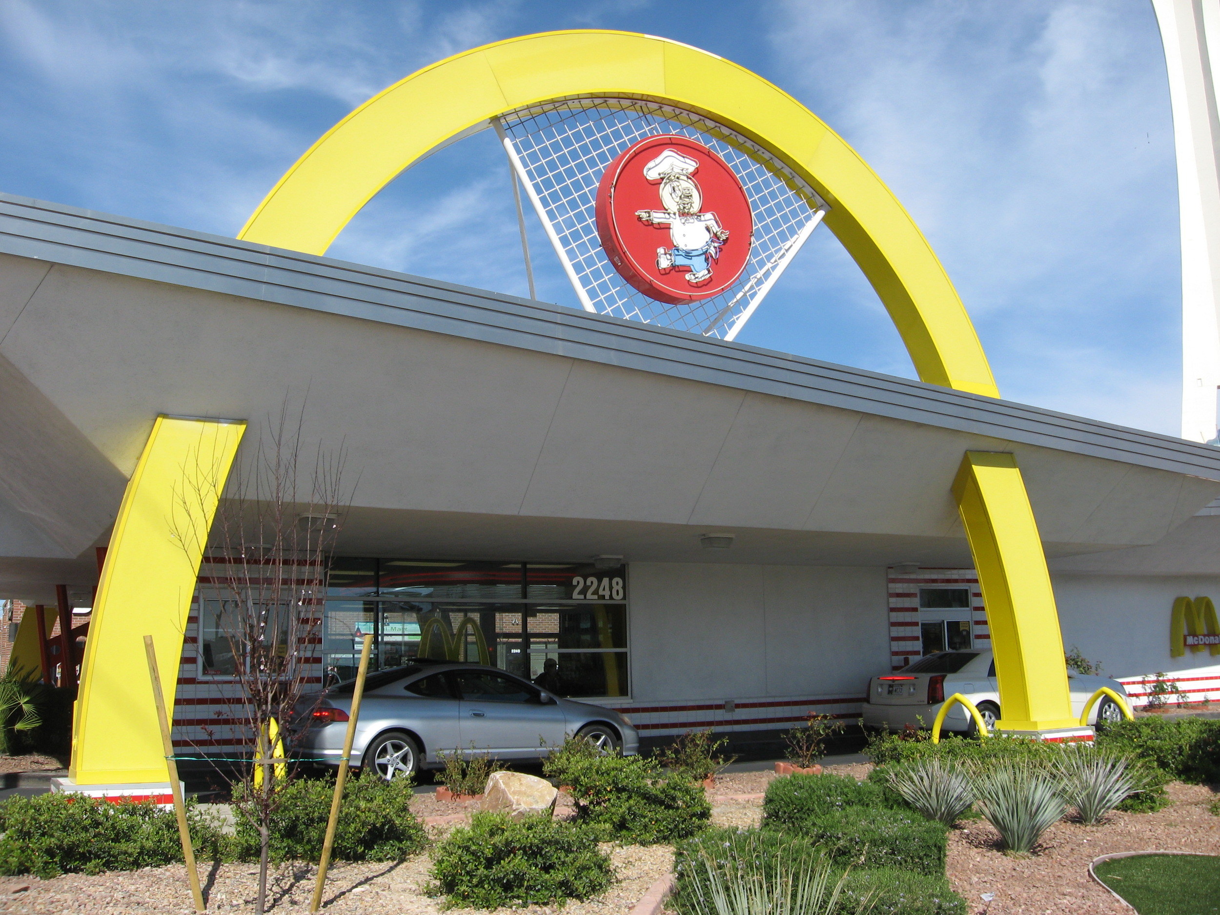 "A block off the Vegas strip is a retro pre ""Ronald"" McDonalds."