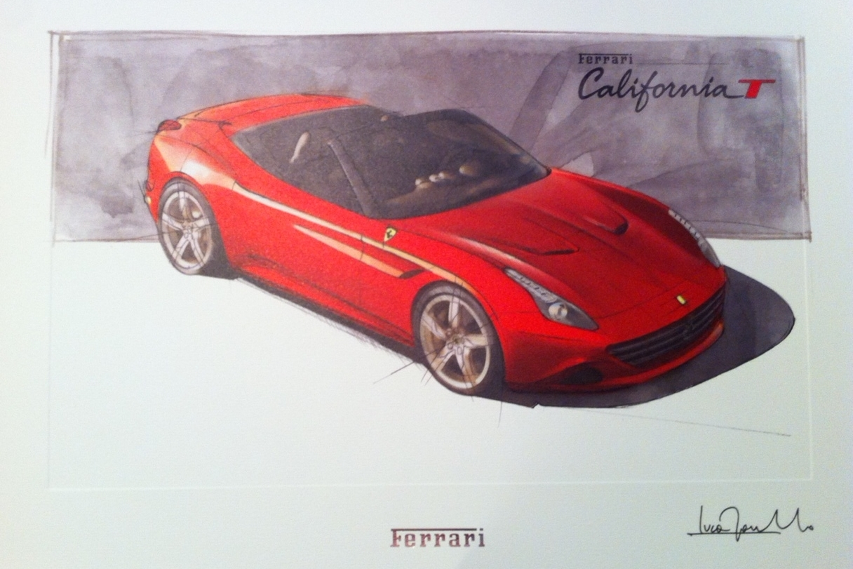 After the test drive I was presented with this lithography of Cali...it is probably the only Cali I will ever own :(