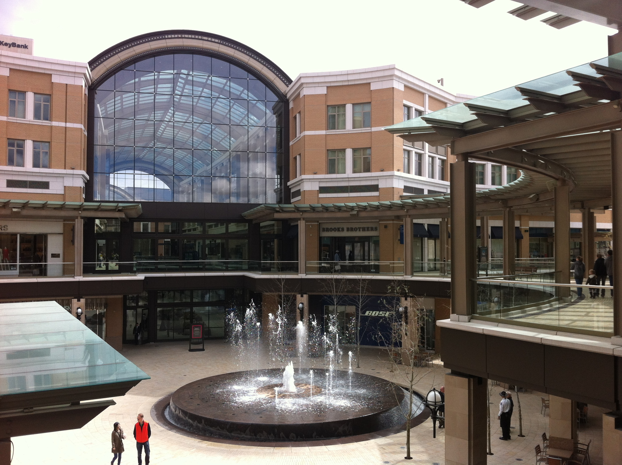 City Creek Centre's plaza and fountain.