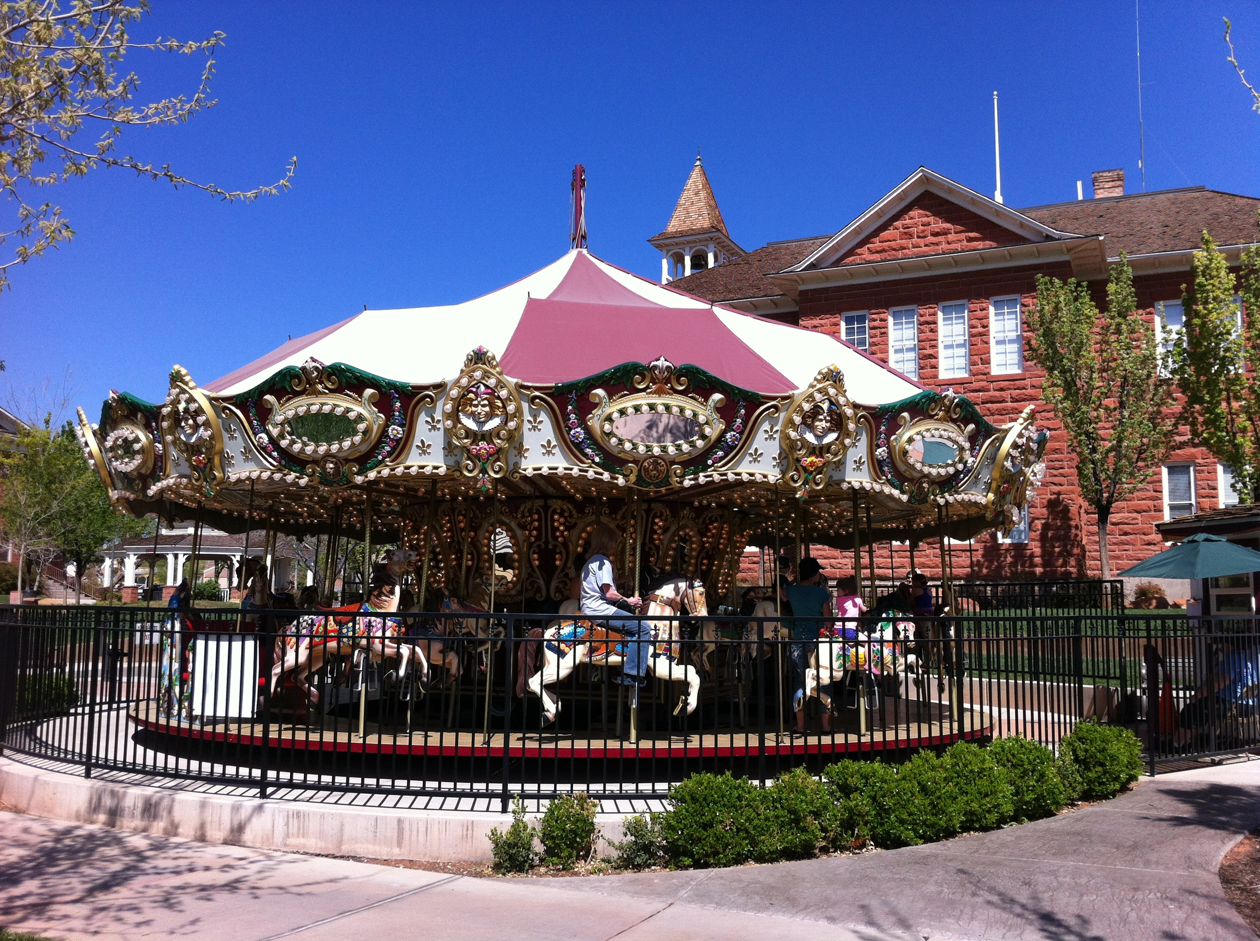 The Carousel is just one of several elements that makes St. George's Town Square and inviting public space.