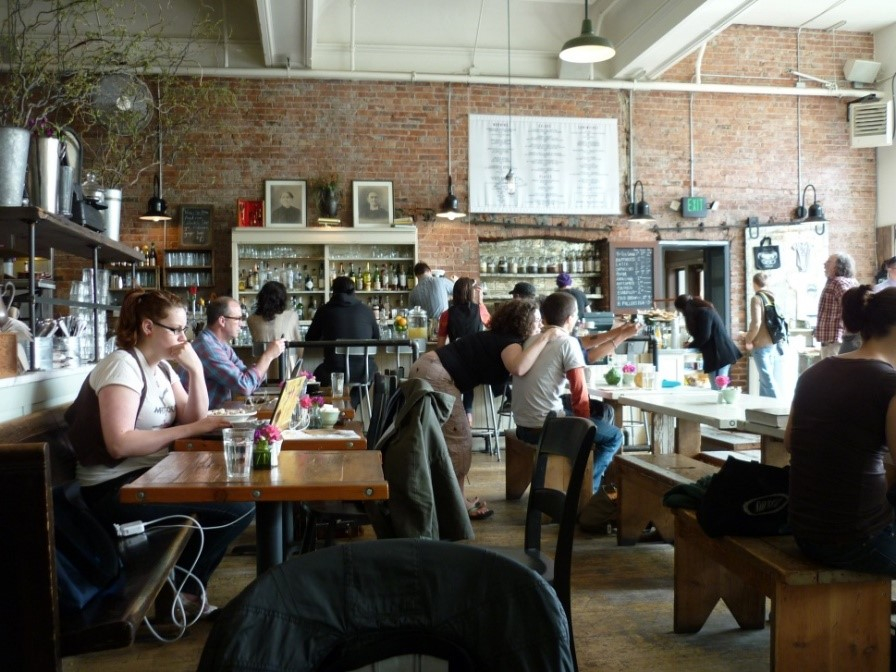 Oddfellows Café & Bar, one of our favourite breakfast places in Capitol Hill.