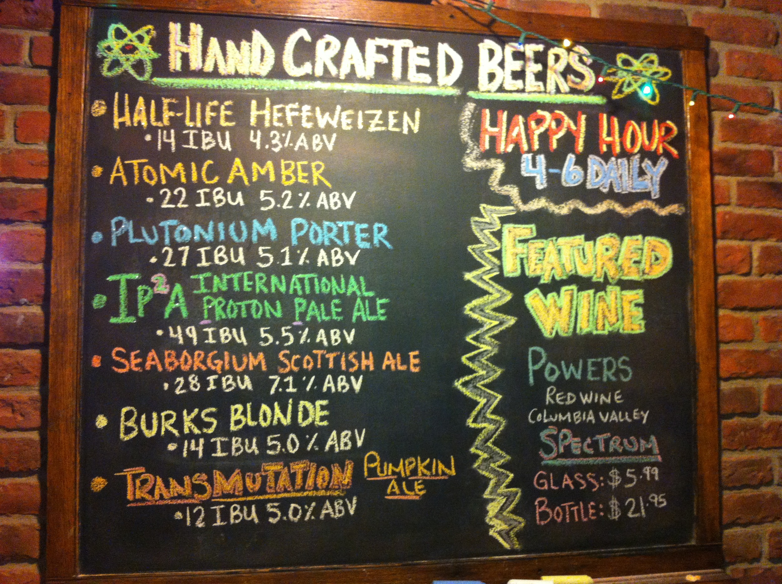 Atomic Ale Brewpub & Eatery offers some unique beers.
