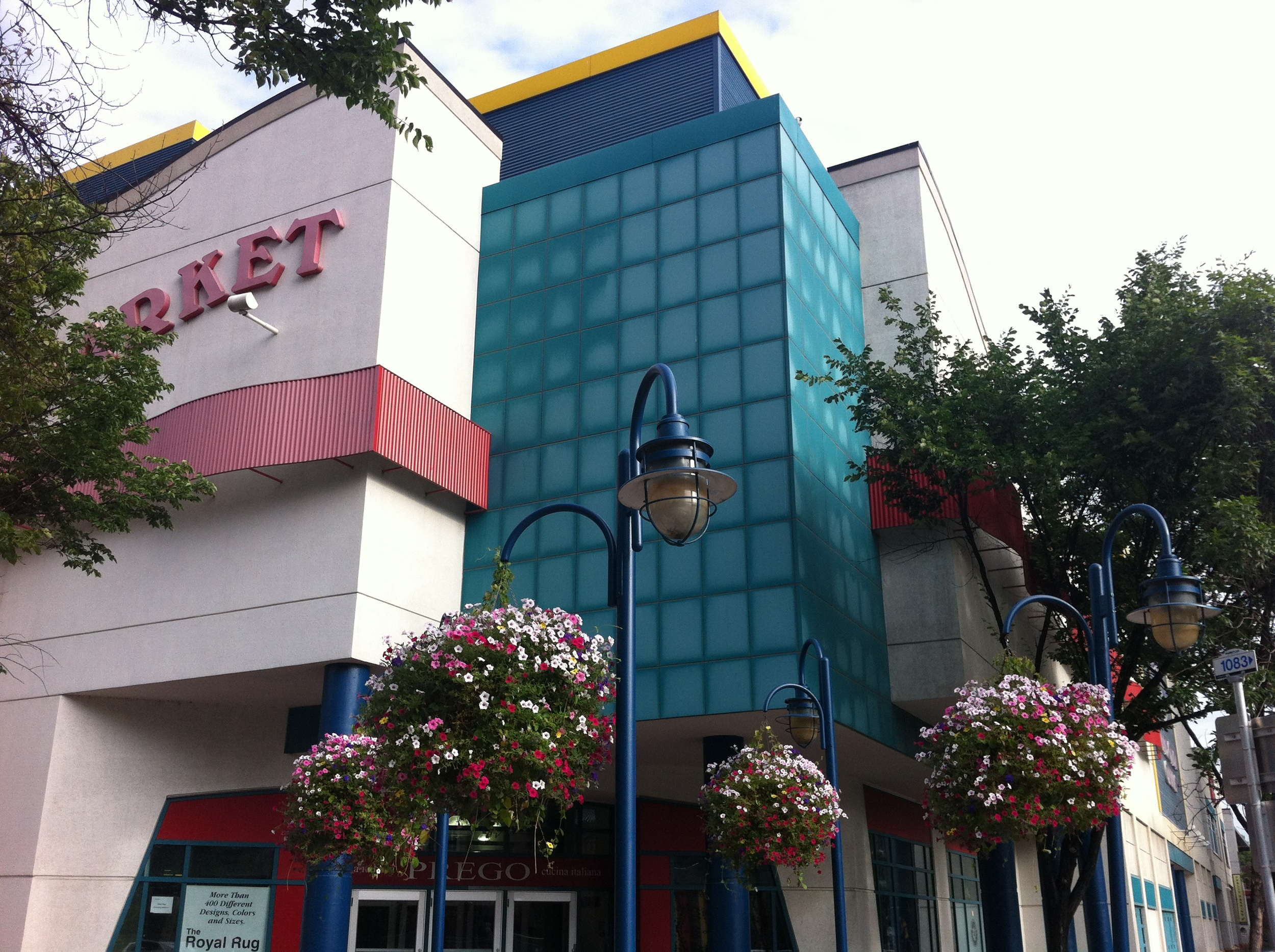 Eau Claire Market is also nearby with its contemporary design and use of yellow, red and blue colours.