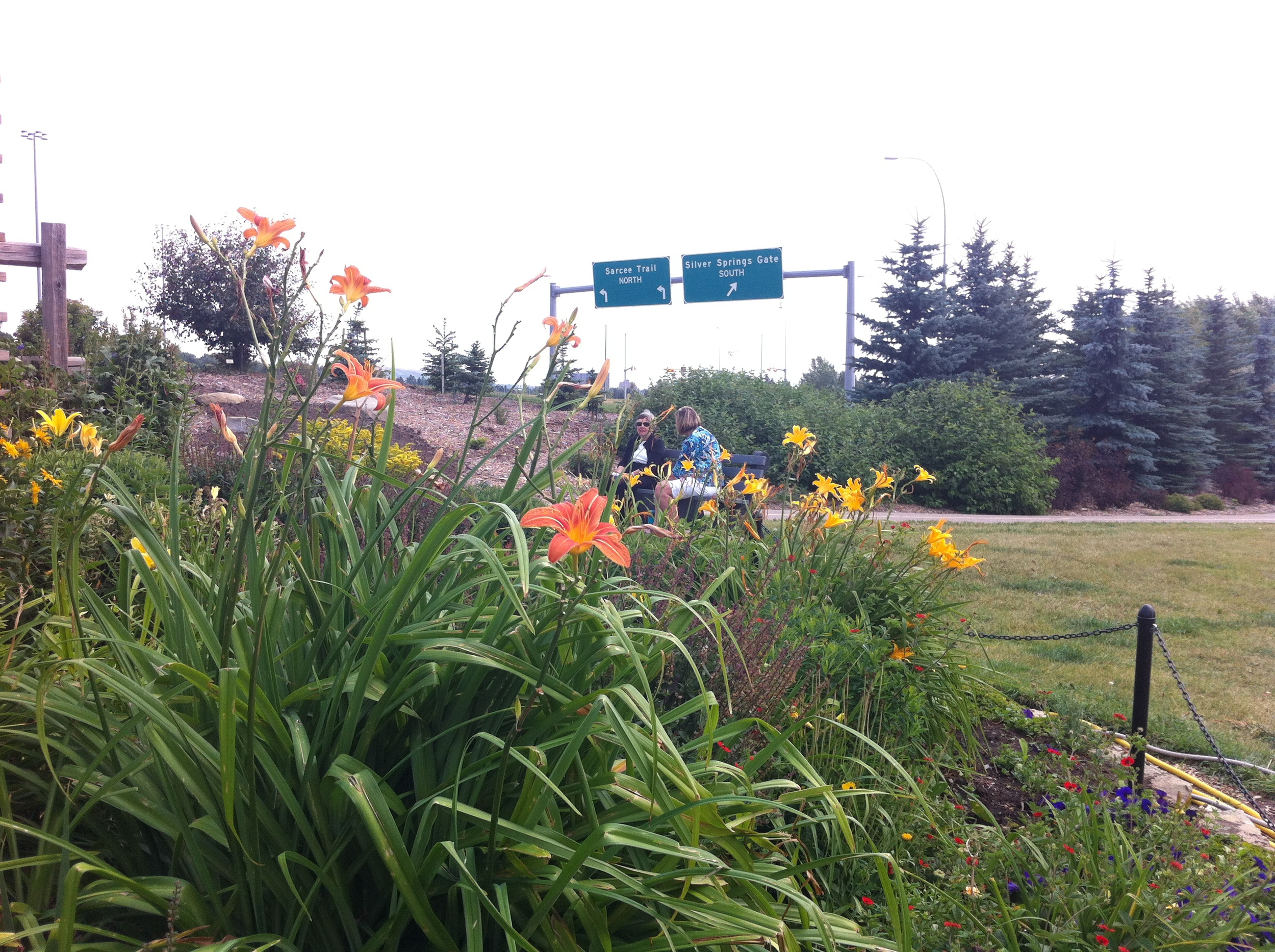 Yes, the Silver Springs Botanical Garden is literally just off Crowchild Trail.