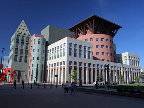 Denver's Central Library designed by Michael Graves, in 1995.