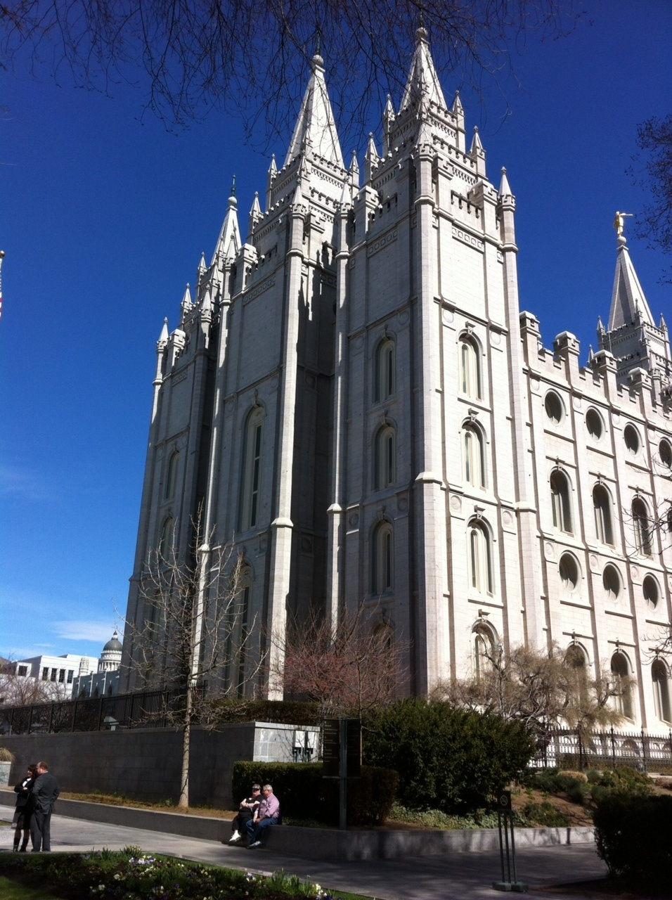 The Temple is the centre piece of a multi-block campus of LDS buildings that is their corporate headquarters.