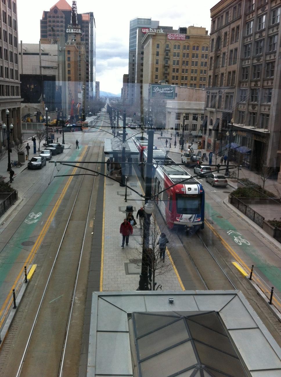SLC's transit corridor.
