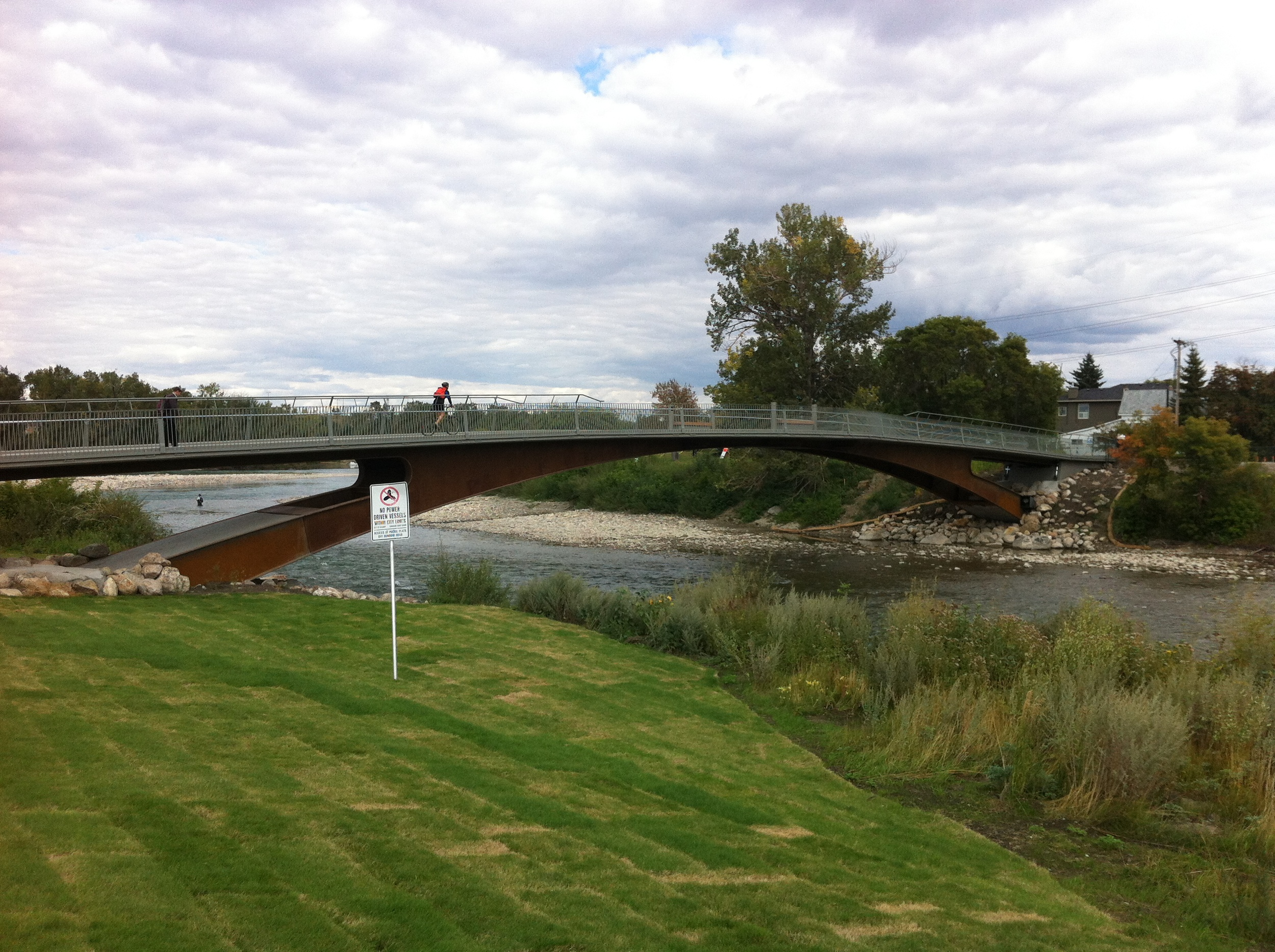 Elbow River Traverse aka bridge for cyclists and pedestrians.