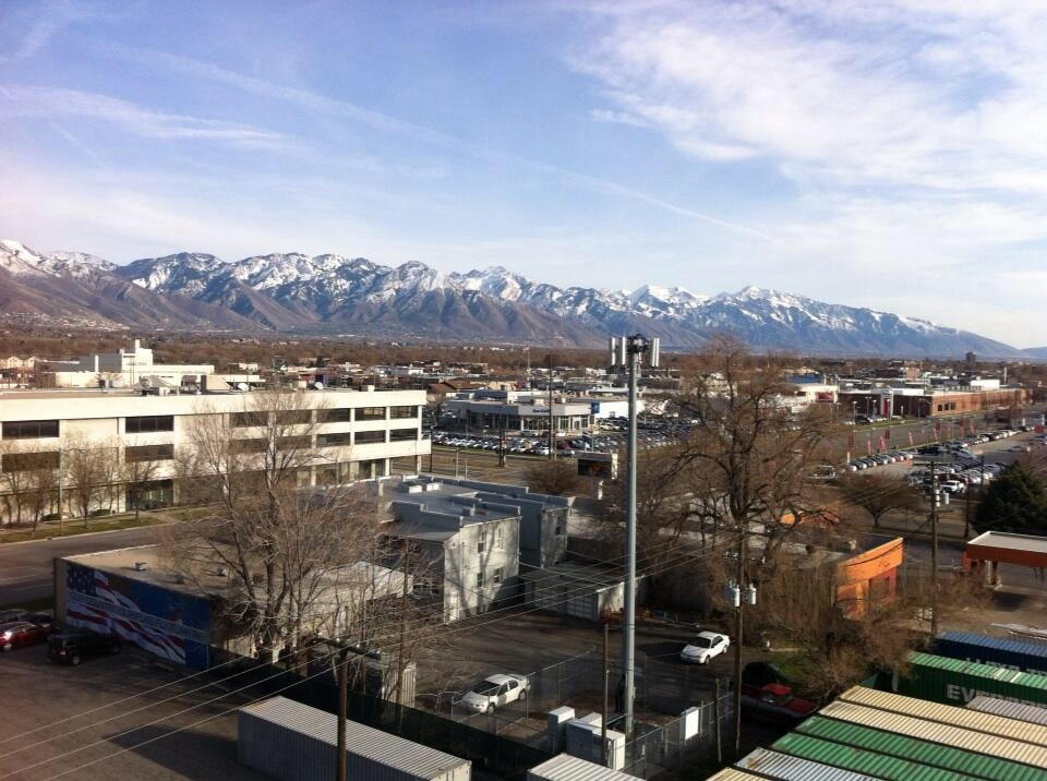 Great view of the Wasatch Mountain out the window of our Red Lion Hotel in downtown Salt Lake City.