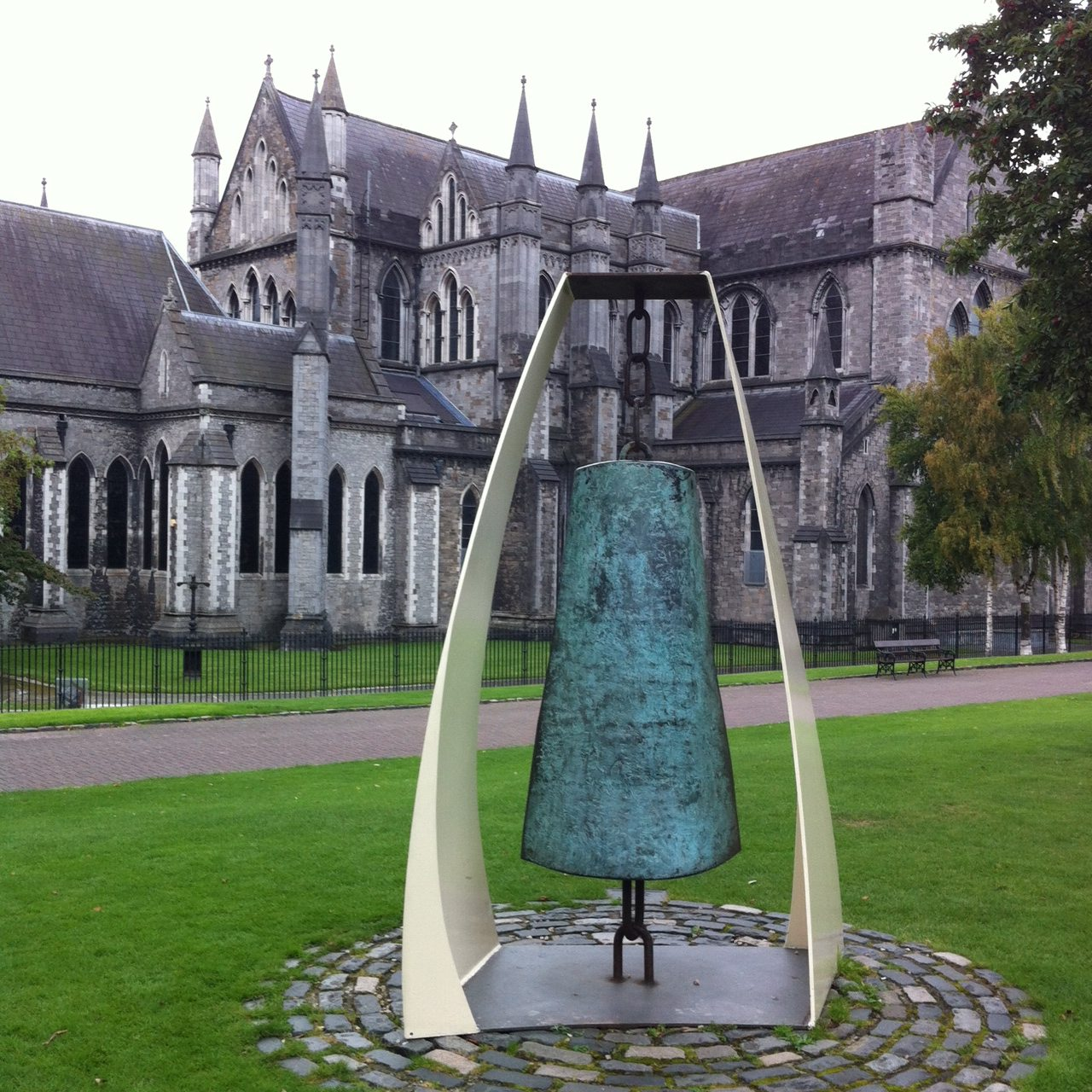 Liberty Bell, by Vivienne Roche occupies a prominent spot in the park.
