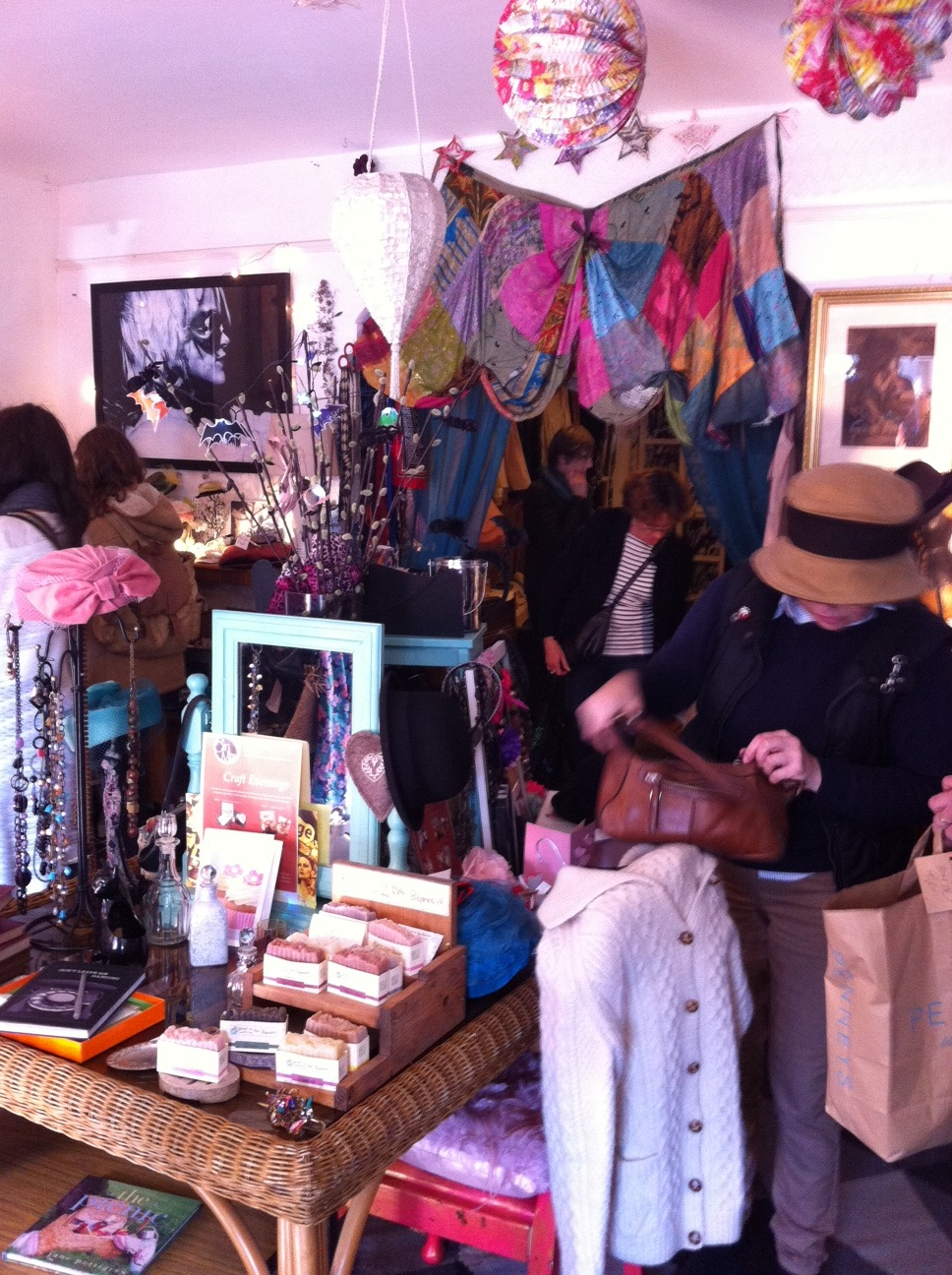 Cat Meow was full of shoppers searching for vintage fashion finds.