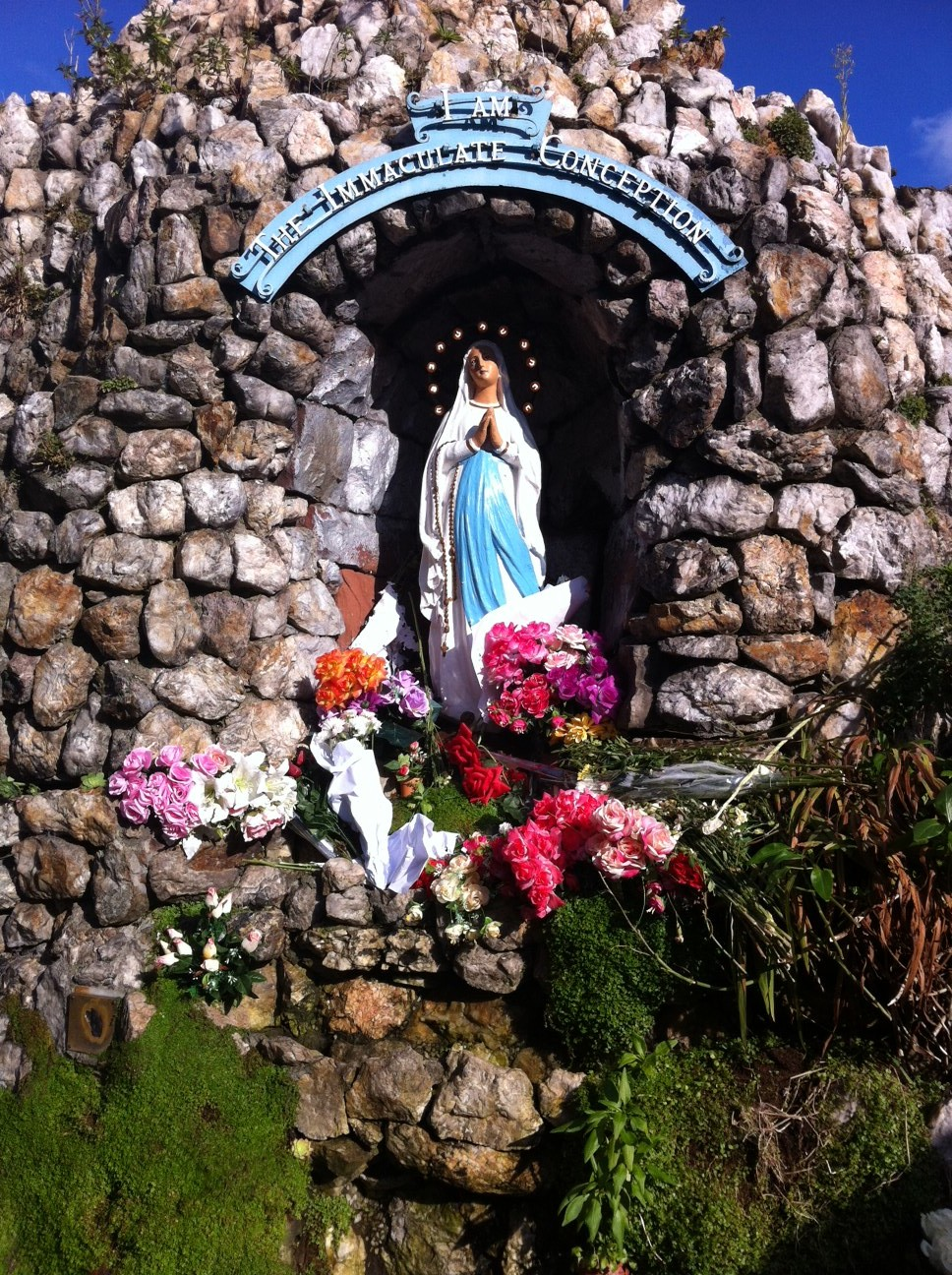 Our Lady of Immaculate conception grotto.