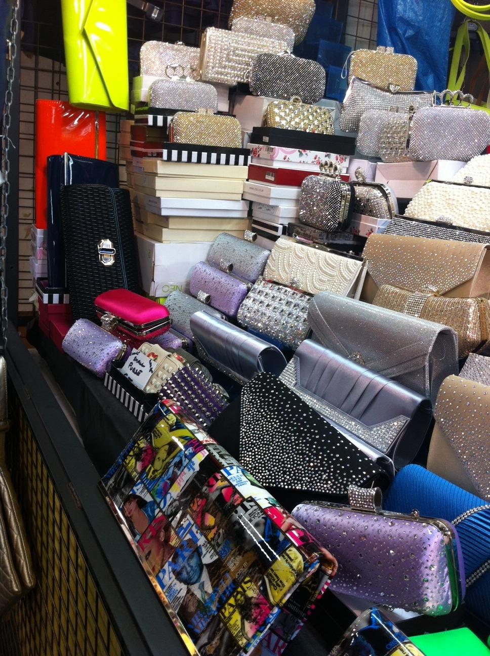 Liberty Market purse vendor's wares.